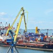 Cargo crane and ship — Stock Photo #23141688
