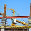 Concrete formwork and crane — Stock Photo #24917015