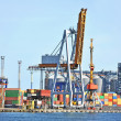 Port cargo crane and container — 图库照片 #26087337