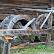 Vintage water mill wheel — Stock Photo
