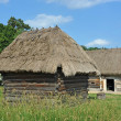 Stock Photo: Ancient barn with a straw roof