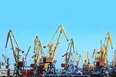 Gru di carico porto — Foto Stock