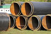 Tubo de acero con aislamiento térmico — Foto de Stock