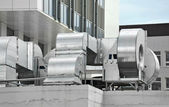 Industrial ventilation system — Stock Photo