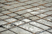 Iron armature and concrete — Stock Photo
