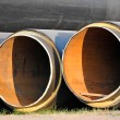 Steel pipe with heat insulation — Stock Photo
