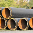 Stock Photo: Steel pipe with heat insulation