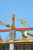 Concrete formwork and crane — Stock Photo