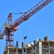 Concrete formwork and crane — Stock Photo