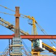 Concrete formwork and crane — Stock Photo #30153253