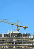 Crane and construction site — Stock Photo