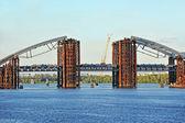Local de construção de ponte — Foto Stock