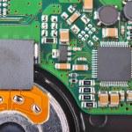 Inside hard disk drive — Stock Photo