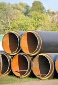 Steel pipe with heat insulation — Stock fotografie