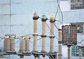 AC substation high voltage — Stock Photo