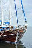 Vintage wooden yacht — Stock Photo