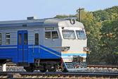 Locomotora de tren eléctrico suburbano — Foto de Stock