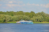 Motor travel river ship — Stock Photo