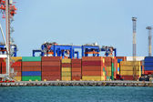 Bağlantı noktası kargo vinç ve konteyner — Stok fotoğraf