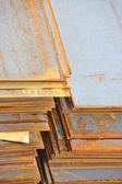Ocelové rezavý plech — Stock fotografie