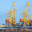 Stock Photo: Port cargo crane