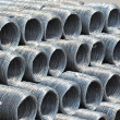 Steel wire roll and pipe — Stock Photo #32753467