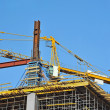 Concrete formwork and crane — Stock Photo #32856597