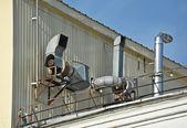 Sistema di ventilazione di fabbrica — Foto Stock