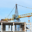 Concrete formwork and crane — Stock Photo #33762537