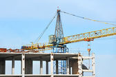 Concrete formwork and crane — Stock fotografie