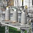 AC substation high voltage — Stock Photo #33787127