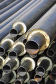 Ржавый стальной трубы с теплоизоляцией — Стоковое фото
