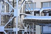 Sistema de ventilação industrial — Fotografia Stock