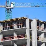 Crane and construction site — Stock Photo #34500371