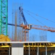 Crane and construction site — Stock fotografie