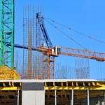 Crane and construction site — Stock Photo #34500415