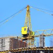 Crane and construction site — Foto de Stock