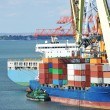 Cargo crane and ship — Stok Fotoğraf #36173075