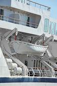 安全的救生艇 — 图库照片