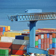 Port cargo crane and container — Stock Photo #38124921