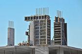 Concrete formwork and floor beams — Stock Photo