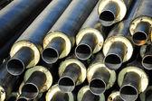 钢管的热绝缘 — 图库照片