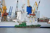 Last och bunker bulkfartyg — Stockfoto