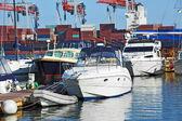Моторная яхта — Стоковое фото