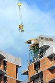 Kraan hijs cement mengen container — Stockfoto