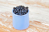 Blueberry on wooden background — Stock fotografie