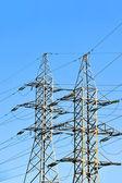 Linea elettrica ad alta tensione — Foto Stock