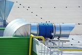 Industrial ventilation system — Stock Photo
