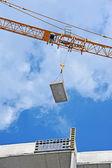 クレーン、建設サイト — ストック写真