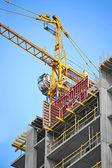 Kraan en bouw website — Stockfoto
